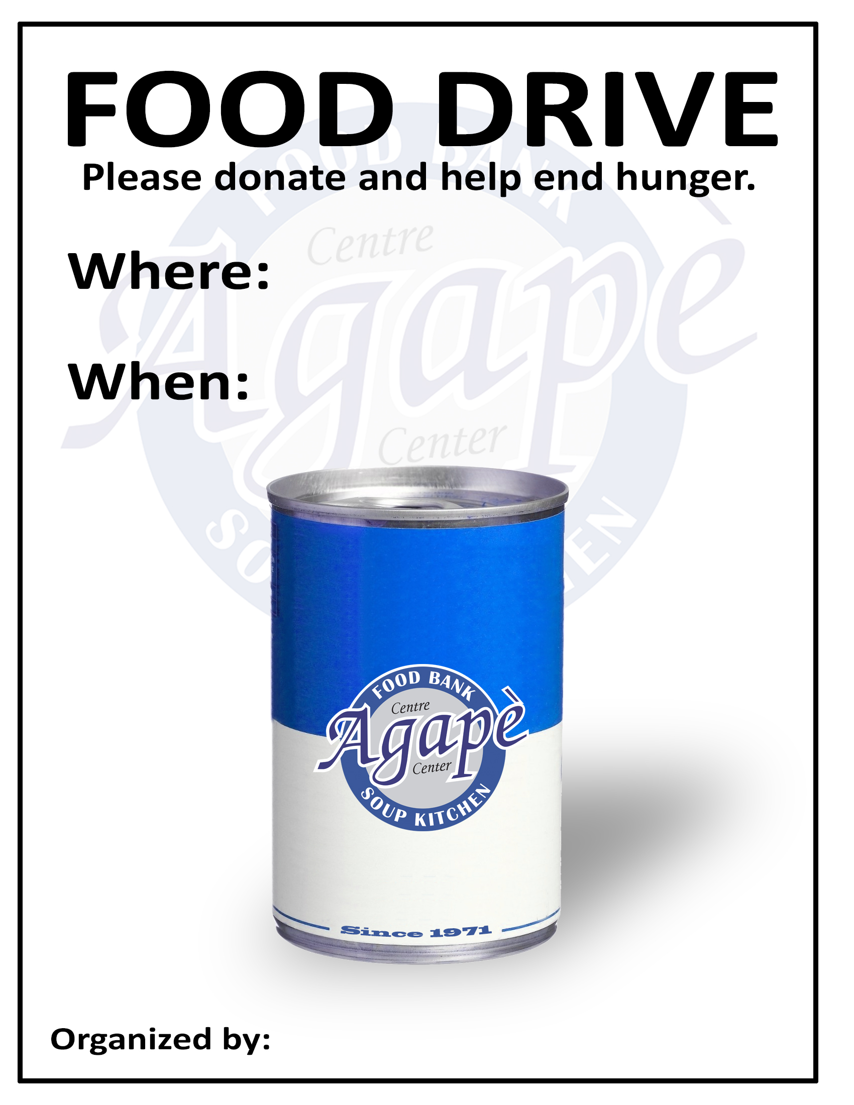 doc 12361600 can food drive flyer template canned food drive